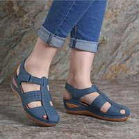 Dress Shoes Outside Sandals Suit Female Beige 2021 Summer Women's Heels Med Black Low Girls Comfort Medium Fashion PU Fretwork Size35-43