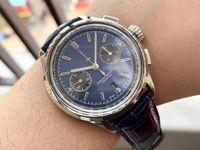 GF produz relógio Premier B01 Chronograph 42mmx13.65 Ásia-Pacific 7750 com parafuso em aço transparente Sapphire Crown