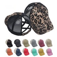 DHL Ship Ponytail Baseball Cap Messy Bun Hats For Women Washed Cotton Snapback Caps Casual Summer Sun Visor Outdoor Hat