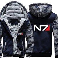 Camisas Casuales para hombre Juegos N7 Mass Effect 3 Zipper Cardigan Sudaderas con capucha Sistemas Alianza Emblema Militar Juego Sudaderas Mujer Streetwear Hoodie Kze6
