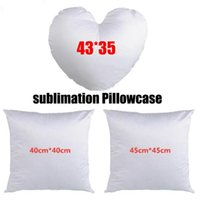 3 size loveheart and Square shape sublimation pillowcases DIY heat transfer printing pillow cover without insert polyester pillow cover gift