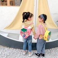 Backpack Cartoon Kids Fruit Bag Cute PVC Strawberry School Bags For Kindergarten Girl Clear Baby Back Pack