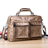 JH 2020 New Men 'S Horizontal Leisure Messenger Handbag Retro Briefcase Computer Camera Bag Men 'S Bag1