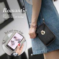 25 # mini cep telefonu çantası ile arka yan temizle dokunur ekran deri çanta basit mini omuz açık 2020 droshipping r9zr #