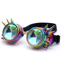 Florata Kaleidoscope نظارات ملونة الهذيان مهرجان حزب edm النظارات الشمسية diffracted عدسة steampunk نظارات