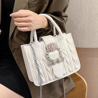 Sweet Lady Tote bag 2021 Fashion High quality PU Leather Women's Designer Handbag Diamond Lock Chain Shoulder Messenger Bags