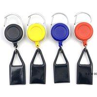 1pc Premium Colorful Gomma Accendino Guaina Guaina in plastica Accendino Guinzaglio Clip per il guinzaglio per pantaloni Retractable Reel Metal Keychain Porta accendino EWE5166