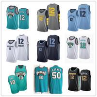 Männer billig 2021 JA 12 Morant Jersey MemphisGrizzliesVancouverJersey Mike Bibby Abdur-Rahim 50 Reeves Basketball-Trikots
