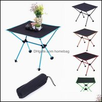 Camp And Hiking Sports & Outdoorscamp Furniture Portable Outdoor Folding Table Practical Tralight Aluminum Alloy Collapsible Computer Desk M