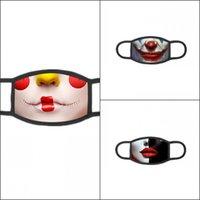 Divertenti clowns maschera stampa mascarillas cotone moda moda pop bocca maschera maschera magica riutilizzabile adulto viso maschera carnival anti-polvere filtro 84 V2