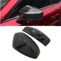 Porta laterale Specchio in fibra di carbonio aspetto vista posteriore Cappucci retrovisori Trim Coperchi auto Overlay Styling per Mazda CX-5 CX5 2017 2018 KF