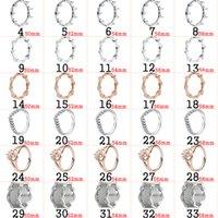 2020 925 prata esmalte colorido folhas caídas curva rosa anel de ouro original jóias para mulheres Presente Novo Popular
