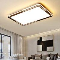 جولة / مربعة الحديثة أدى سقف lihgts لغرفة المعيشة غرفة السرير أضواء المطبخ lampada الأسود الصمام مصباح السقف مصابيح الإضاءة