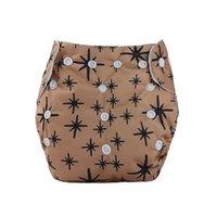 Couches de tissu bébé lavable Nappies réutilisables Imprises imperméables couvre un pantalon de formation en microfibre coton intérieur