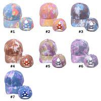 Fequened Cap Kravat Boya At Kuyruğu Beyzbol Kapaklar Yıkanmış Kamyon Şarapları Şapka Kap Açık Visor Snapbacks Kapaklar Parti Hats 7styles