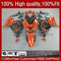 Injection Body For KAWASAKI NINJA ZZR 1400 CC ZX 14R 14 R ZZR1400 12 13 14 15 16 17 5No.68 ZZR-1400 ZX-14R 12-17 ZX14R 2012 2013 2014 2015 2016 2017 OEM Fairing orange black