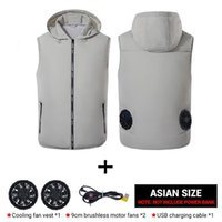 2021 Cooling usb Vest for Men Women Summer Air-Conditioned Breathable Skin Clothings Sleeveless Outdoor Jacket with 2 Fans Lightweight Jackets clothing