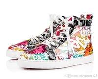 Louboutin Christian 2019 Yeni Sıcak Gelmesi Yüksek / Düşük Kırmızı Alt Erkekler Sneakers Rantus Orlato Erkekler Düz Seaviaste Spikes Düz Lüks Tasarımcı I SCN