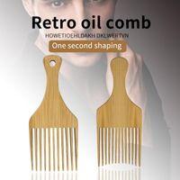 Hair Brushes Wooden Bamboo Afro Comb Pick Fork For Men & Women