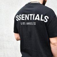 안개 Essentials La Limity God Godize T-Shirts FG Essentials 캐주얼 T 셔츠 남성 여성 힙합 스케이트 보드 스트리트웨어