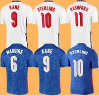 ENGLAND Jersey Jersey di calcio 2021 Casa Away Sterling Kane Rashford Sancho Mount Abraham Dele Top Quality 20 21 Camicia da calcio Taglia S - 4XL