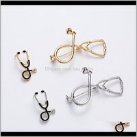 Pins, Jewelry 4 Styles Creative Personality Doctor Nurse Stethoscope Brooches Enamel Pin Cute Schoolbag Cap Top Lapel Badge Drop Delivery 20