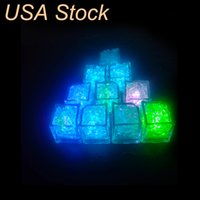 Yenilik Aydınlatma RGB Küp Işıkları Buz Dekor Küpleri Flaş Sıvı Sensörü Su Dalgıç LED Bar Işık Yukarı Kulüp Düğün Parti Şampanya Kulesi ABD stok