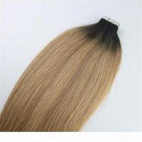 Лента в наращиваниях человеческих волос Омбре волосы Бразильские волосы девственницы Balayage темно-коричневые до 27 блондинки. Выделите уток кожи