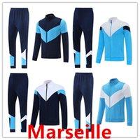 21 22 Marseille Männer Trainingsanzug Fußballjacke Sets Suringement 2021 2022 om Marseilles MAILLT FUIGN MIKIK PAYET FOOTEL JACKETS Training Anzug Joggen