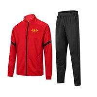 2021 2022 The Republic of North Macedonia football Tracksuits Home Uniform Kids Soccer Jersey Winter Suits Height 120cm 130cm Men Warm Set Size S to XL