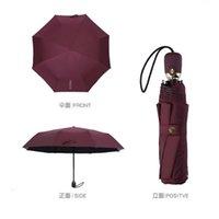 Kleine duftende High-End-Kamelie-automatische Sonnenschatten-UV-klassische Frauen-Regenschirm O73O