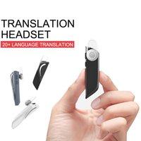 Tradutor sem fio 20 multi-linguagem voz fones de ouvido tradutores inteligentes tradução instantânea fone de ouvido bluetooth traduções
