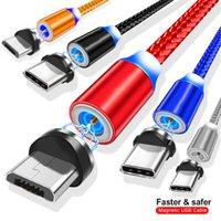 2M 1M Магнитные плетеные нейлоновые кабели USB-C типа C Micro USB-кабель для Samsung S20 S20 S21 HTC LG Android телефона PC