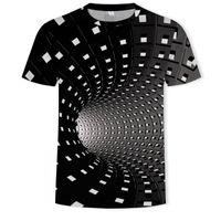 Hombre gráfico t shirt moda 3 camisetas digitales niños ocasional impreso geométrico hipnosis visual hipnosis irregular patrón tops EUR más tamaño XXS-5XL