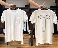 클래식 짧은 소매 캐주얼 티셔츠 고품질 여름 편지 패턴 인쇄 면화 남성 여성 티즈 16 스타일