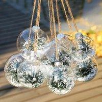 الزفاف الحلي الحلي عيد الميلاد كرات بلاستيكية شفافة الديكور 80 ملليمتر كرات عيد الميلاد واضحة كرات الزفاف 80 ملليمتر الحلي HWF5419