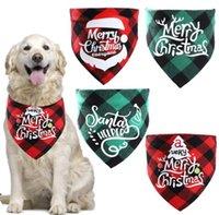 Dog Apparel Dogs Bandana Christmas Triangle Scarf Xmas Cats Kerchief for Small Medium Pet Costume Accessories Decoration SN5955