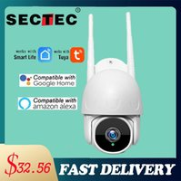 Sectec 1080p Tuya Cámara Google Home Alexa Smart Cloud PTZ WIFI Cámara IP Automático Seguridad Auto Seguridad Cámara Video Video Video