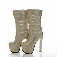 BLXQPYT Дамы Большой Размер 33 48 Короткие Женские Муджеру Лодыжки Ботинки Сексуальные Супер Высокие каблуки 15 см Вечеринка Свадьба Женская Обувь Насосы 689 11 Клина S O9TR #