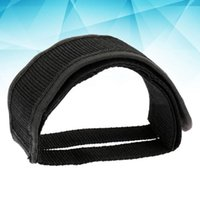 Bike Pedals Anti-slip Belt Fixed Gear Cycling Pedal Bands Feet Set With Straps Beam Adhesive Toe Clip Strap (Black)