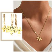 Кулон ожерелья женские 3 шт. / Установите BFF Puzzle Мы всегда будем подключены обещание дружбы на память подарки ювелирных изделий