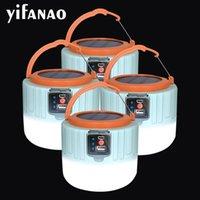 Dropshipping 8000lumen SOLAR USB Wiederaufladbare Arbeitslaterne LED Camping Licht Tragbare Laternen Marktlampe Notfallreparatur Lichter