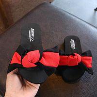 Slipper Summer Semi-high Heeled Single-strap Flower Butterfly Women's Sandals Drag Thick Bottomed Parent Child Flip-Flop