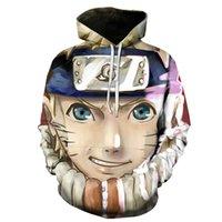 2020 Herbst und Winter Neue Herren Anime Casual Pullovers Verkaufender Modern Trend 3D Bedruckt Naruto Sweatshirt Hoodies Männer