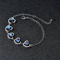 Labradorite avec bracelet en cuivre blanc bleu flash bricolage chakra bricola spirituel
