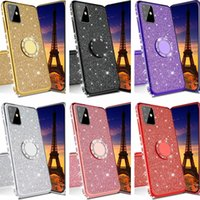 Finger Ring Phone Holder Soft TPU Diamond Bling Case Back Cover Case For IPhone 6 7 8 plus x xr 11 12 Pro max Samsung S8 S9 S10 S20 Note 10 note 20 s21