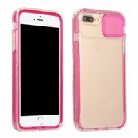 2in1 Bumper Cases For iPhone 13 Pro Max 12 11 XR XS X 8 7 6 Plus Sliding Fine Hole Crystal Dual Hit Color Hard PC TPU Slide Camera Cover CamShield Lens Protection Back Case