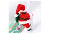 New electric Santa Claus decorations. Creative plush Santa Claus figures that can climb stairs