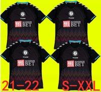 2021 2022 Bristol Weimann Şehir Futbol Formaları Mawson Martin Diedhiou Paterson Wells Massengo Kalas Dasilva Özel Siyah Futbol Gömlek