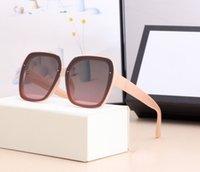 2021 Tempéramament de style de luxe Tempéramament Femmes Lunettes de soleil Super léger Protection UV Fahion Couleur mixte Venez avec une boîte 369